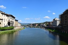 Arno River, Florence, Italy, August 2016